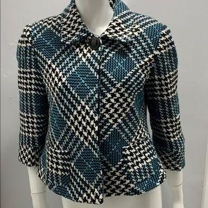 Dress barn blue black tweed jacket